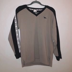 a v-neck sweatshirt from pink